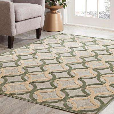 Napa Giles Grey 5 ft. 3 in. x 7 ft. 6 in. Area Rug
