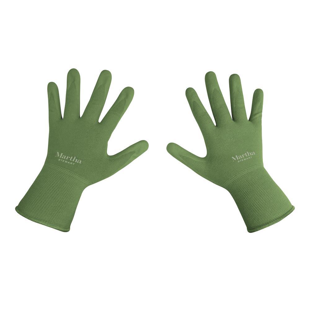Martha Stewart Living Medium Nitrile Coated Palm Breathable All Purpose Non-Slip Grip Garden Gloves