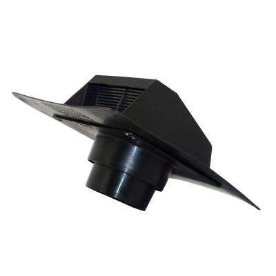 4 in. - 5 in. Heavy Duty Plastic Roof Exhaust Cap in Black for Bath Exhaust Systems