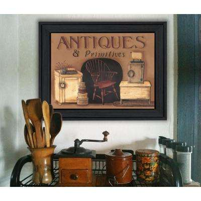 "15 in. x 19 in. ""Antiques & Primitives"" by Pam Britton Printed Framed Wall Art"