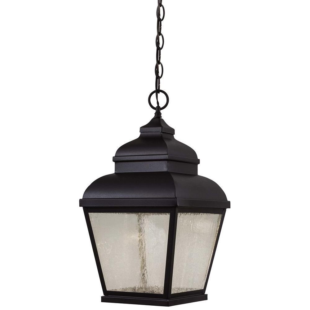 Mossoro LED Mossoro 1-Light Black Outdoor LED Chain Hung