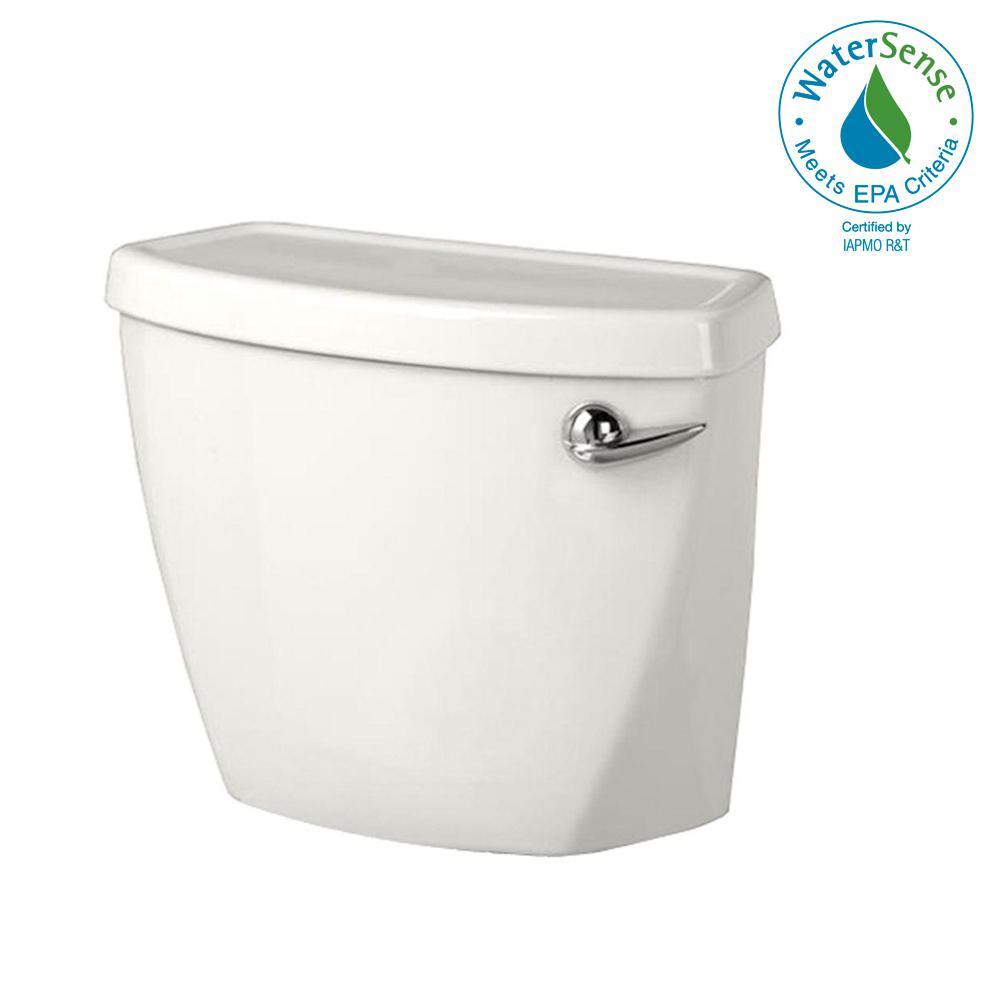 Baby Devoro Right-Hand Trip Lever 1.28 GPF Single Flush Toilet Tank Only in White