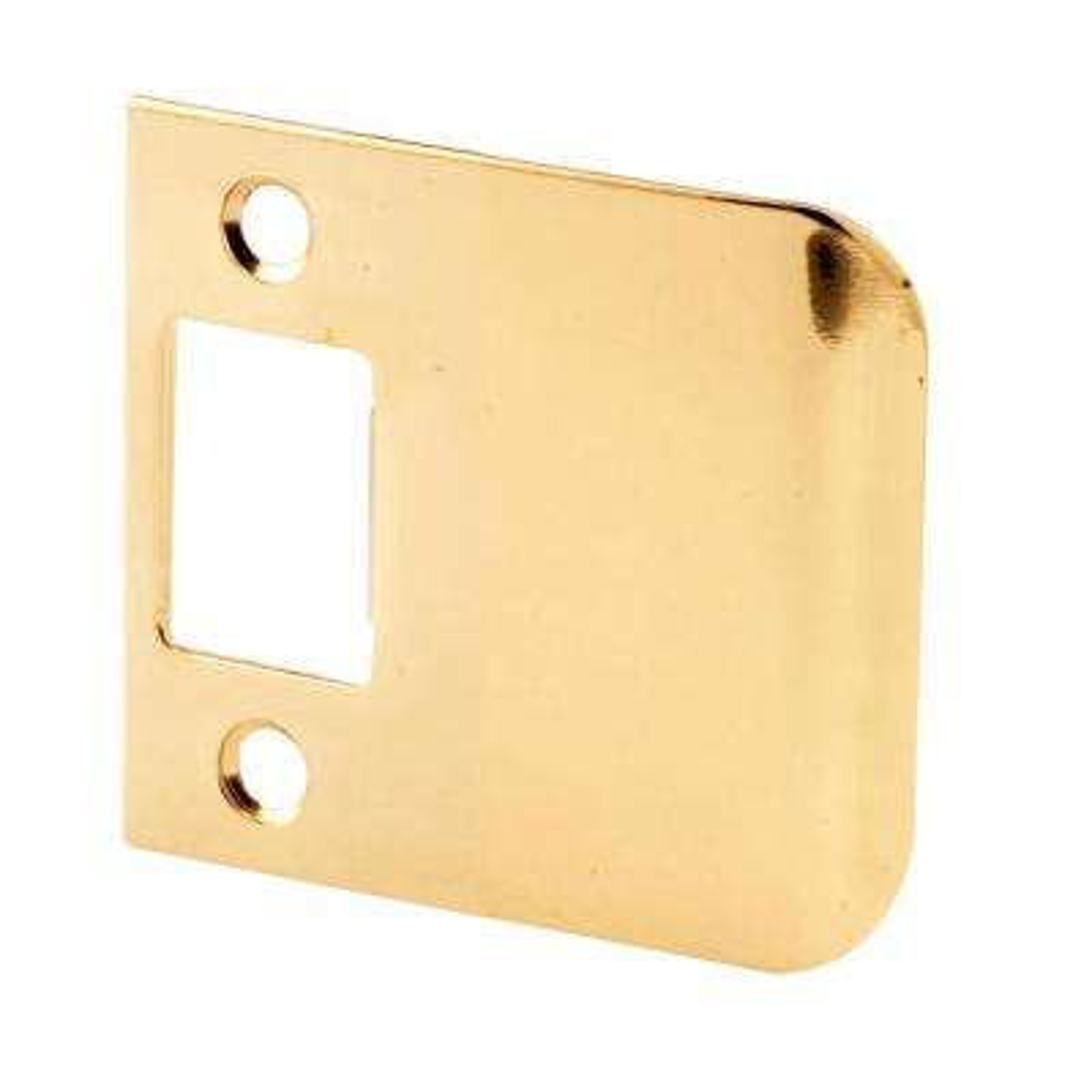2-1/2 in. Brass Plated Door Lock Extended Lip Strike