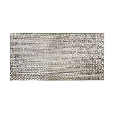 Current Vertical 96 in. x 48 in. Decorative Wall Panel in Brushed Aluminum