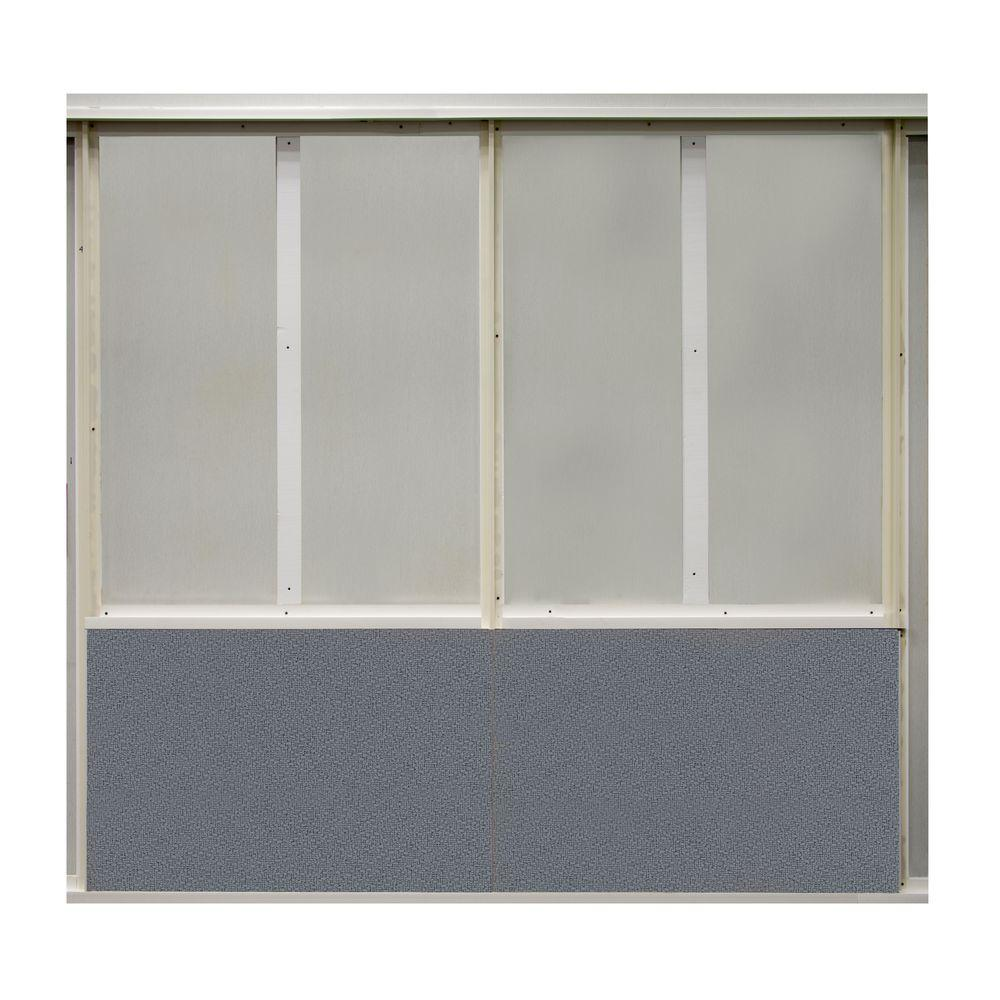 SoftWall Finishing Systems 20 sq. ft. Wolf Fabric Covered Bottom Kit Wall Panel