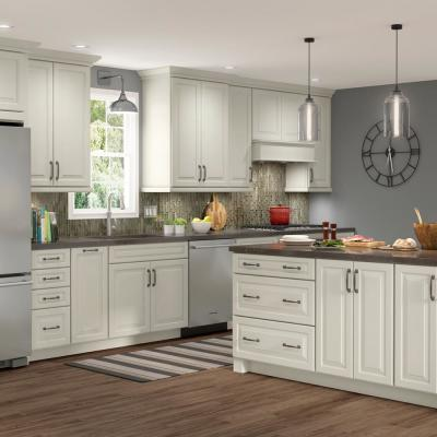 American Woodmark Custom Kitchen Cabinets Shown In Farmhouse Style