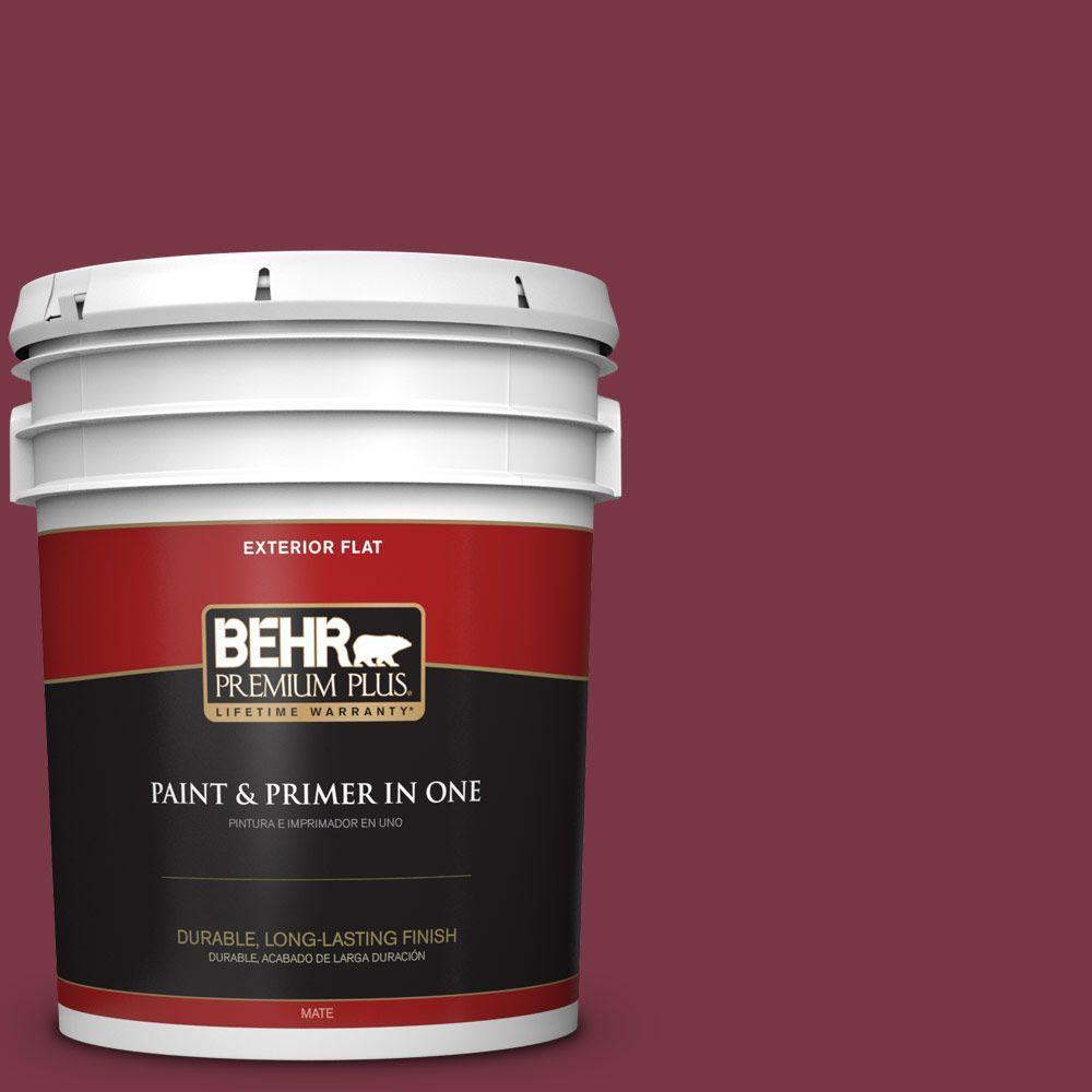 BEHR Premium Plus 5-gal. #S-H-110 Wine Tasting Flat Exterior Paint, Reds/Pinks
