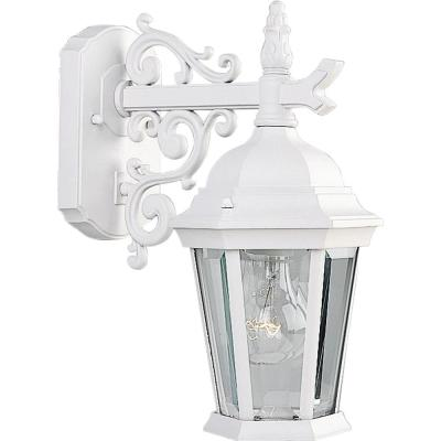 Welbourne Collection 1-Light 13.25 in. Outdoor Textured White Wall Lantern Sconce