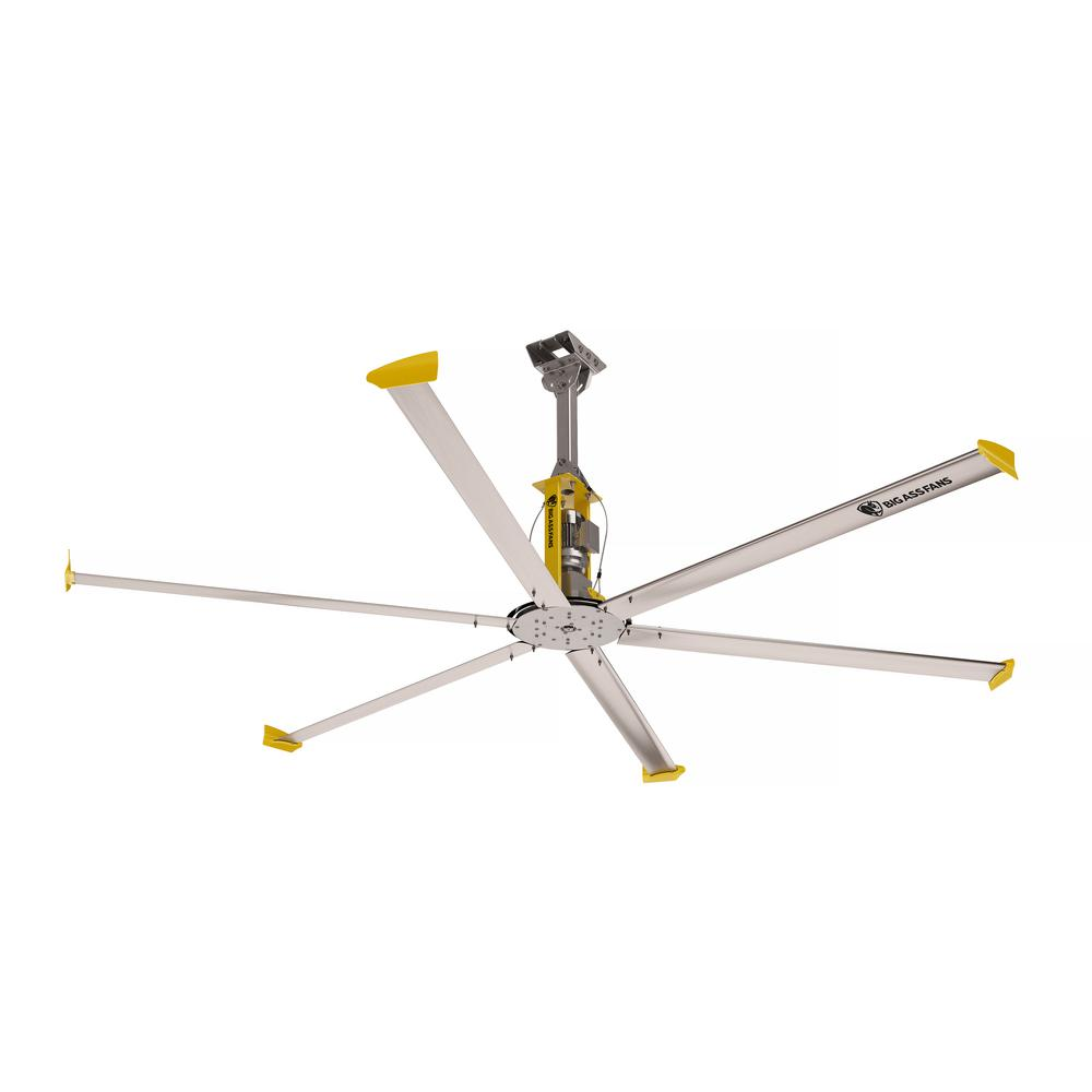Big As Fan >> Big Ass Fans 4900 14 Ft Indoor Silver And Yellow Aluminum Shop Ceiling Fan With Wall Control