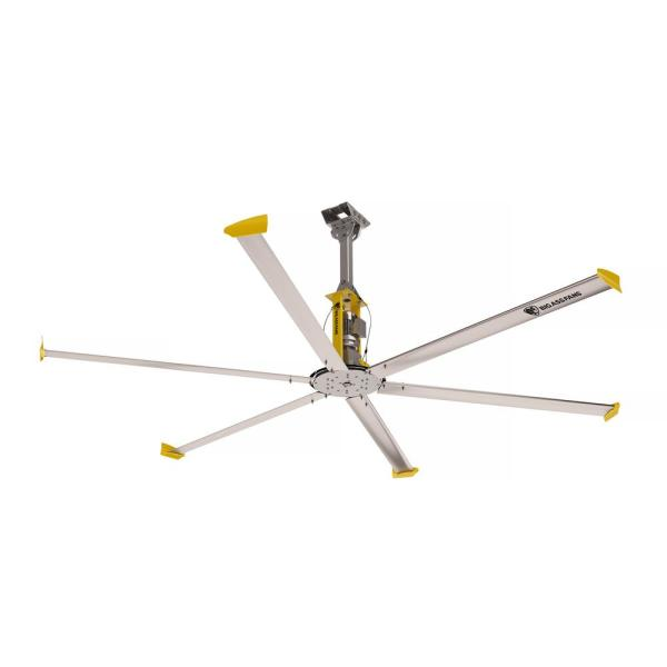 4900 14 ft. Indoor Silver and Yellow Aluminum Shop Ceiling Fan with Wall Control