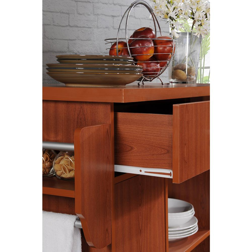 35 Kitchen Island Designs Celebrating Functional And: Stylish Kitchen Cart Cuisine Island Cherry Wood With Spice