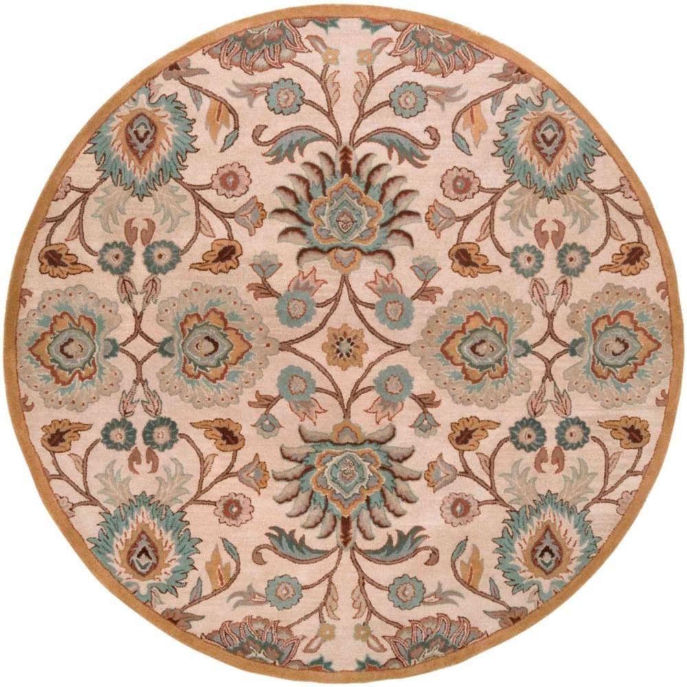 Home Decorators Collection Amanda Ivory 8 ft. x 8 ft. Round Area Rug