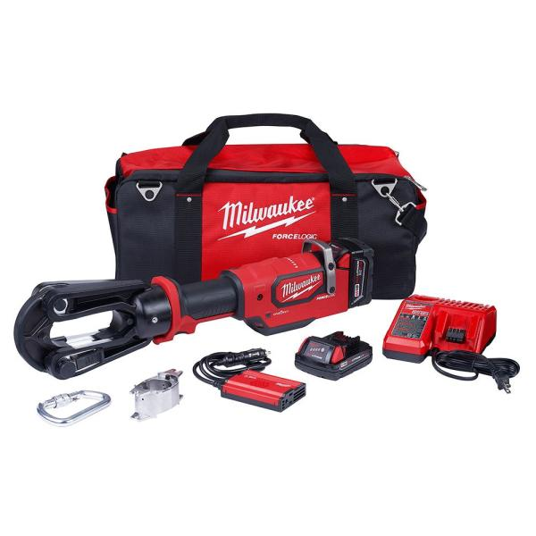 M18 18-Volt 15-Ton Lithium-Ion Cordless FORCE LOGIC Utility Crimper with 2-Batteries, Charger Tool Bag