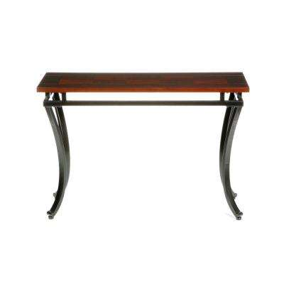 Modesto Rich Espresso Contoured Console Table