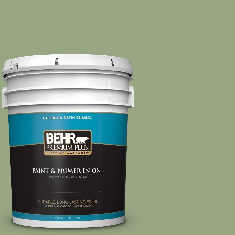 BEHR Premium Plus 5-gal. #M380-5 Hillside Grove Satin Enamel Exterior Paint