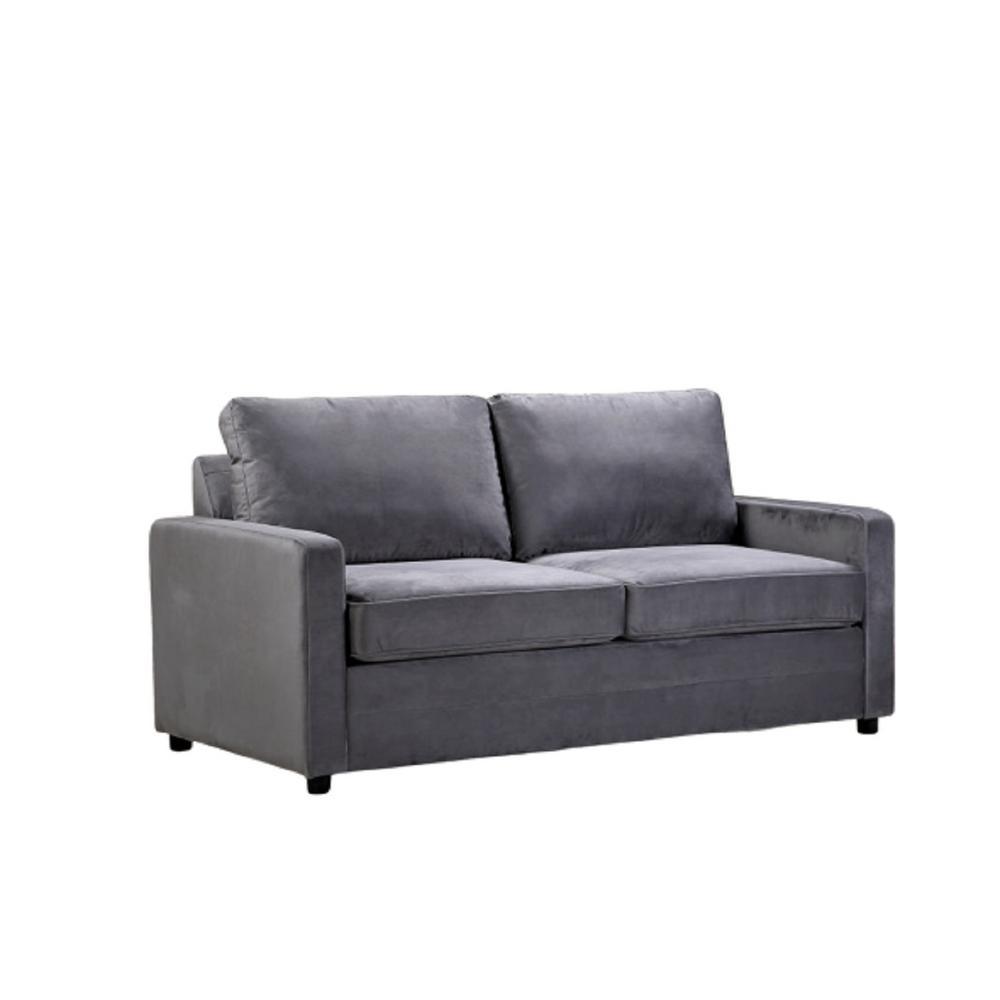 Us Pride Furniture Rivian Grey Velvet