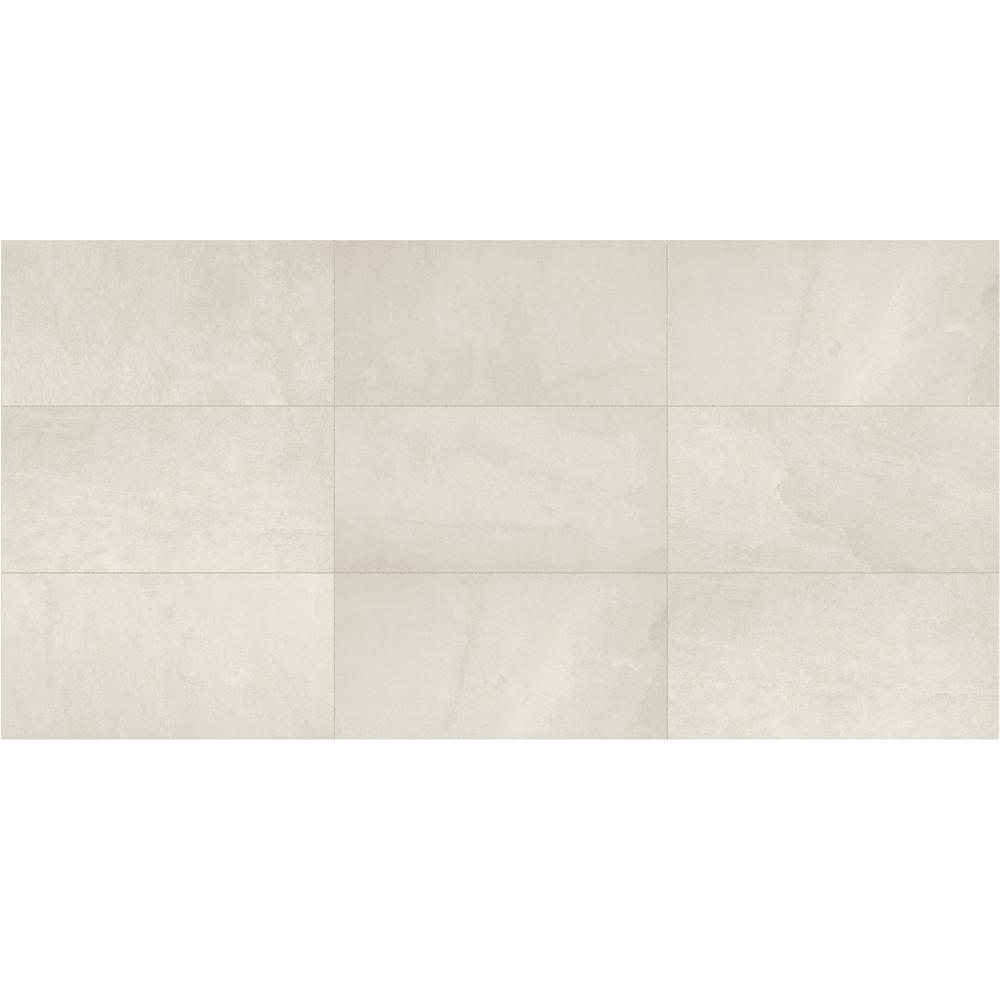 North Lake Ultra White Matte 12 in. x 24 in. Glazed