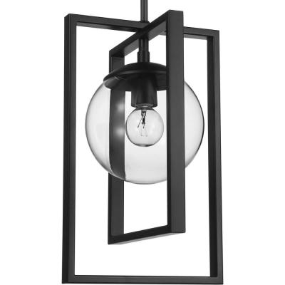 Atwell 1-Light Black Pendant