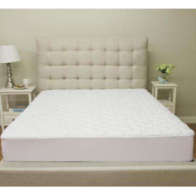 Deluxe Cotton King-Size Quilted Waterproof Mattress Pad and Protector