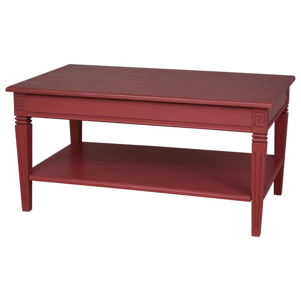 Ashbury Arte Antique Red Oak Veneer Coffee Table-PS-ARE-16
