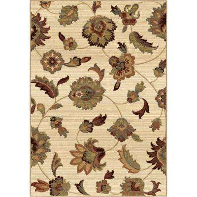 Garden Story Ivory Floral 7 ft. 10 in. x 10 ft. 10 in. Indoor Area Rug