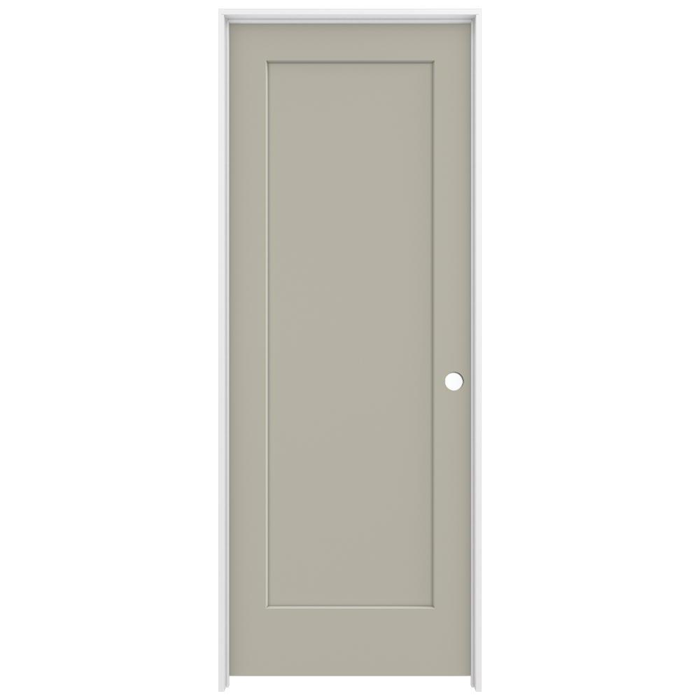 30 in. x 80 in. Madison Desert Sand Left-Hand Smooth Solid