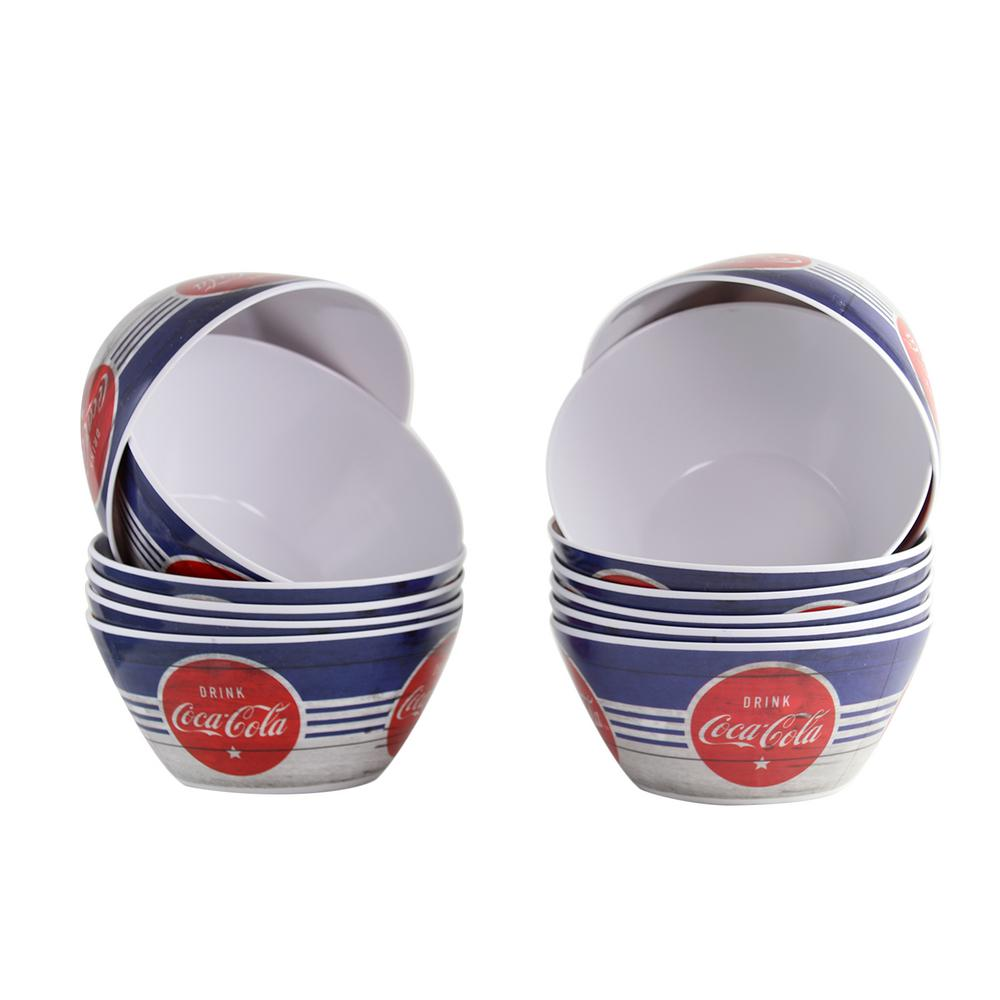Americana 6 in. Blue Melamine Bowl (Set of 12)