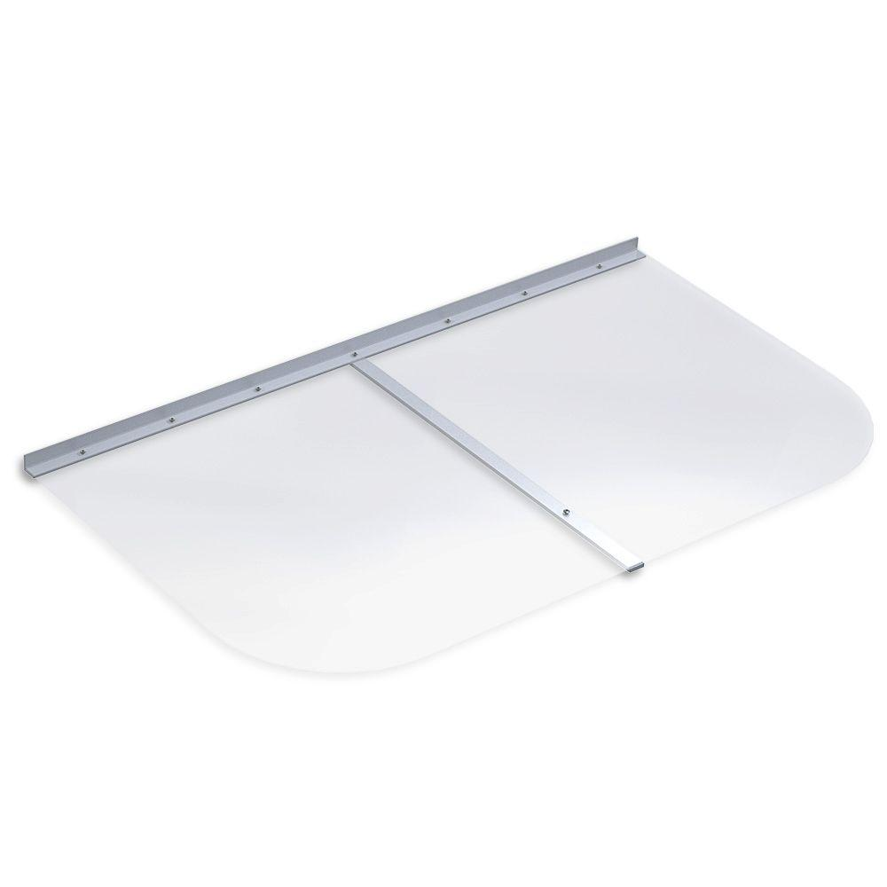 45 in. x 26 in. Rectangular Clear Polycarbonate Window Well Cover