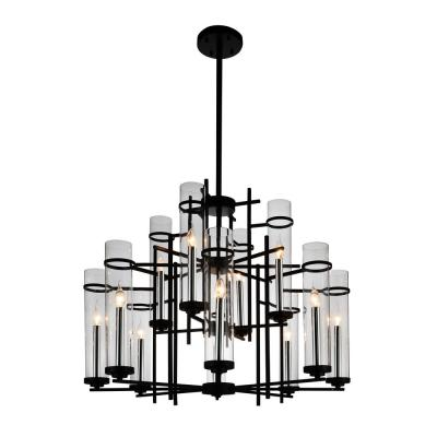 Sierra 12-Light Black Chandelier