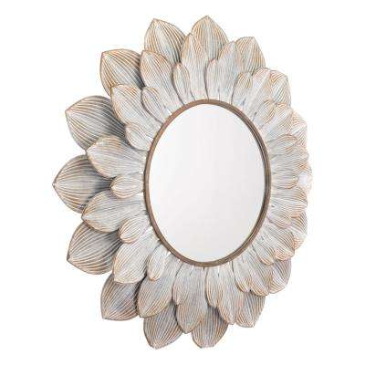 Flora Distressed Brown Wall Mirror