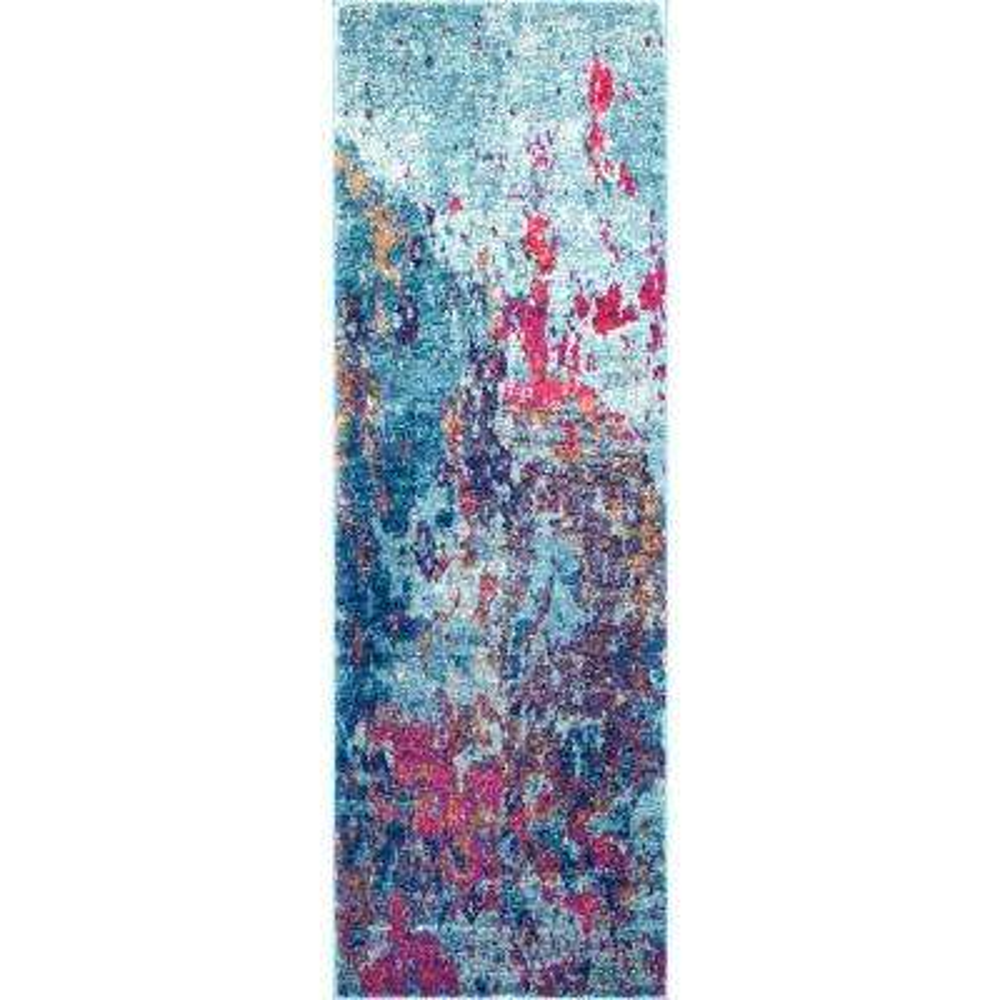 Abstract Sherley Multi 3 ft. x 8 ft. Runner Rug