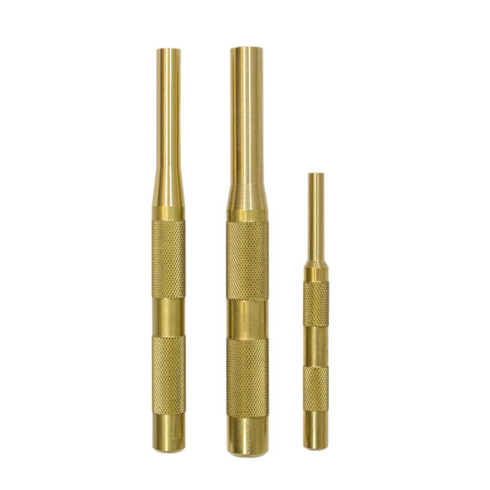 Mayhew Brass Pin Punch Set (3-Piece) by Mayhew