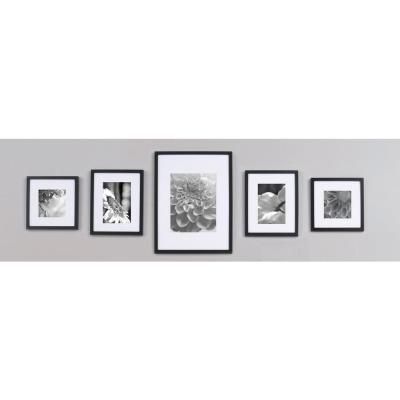 5-Opening 4 in. x 6 in. Matted Picture Frame