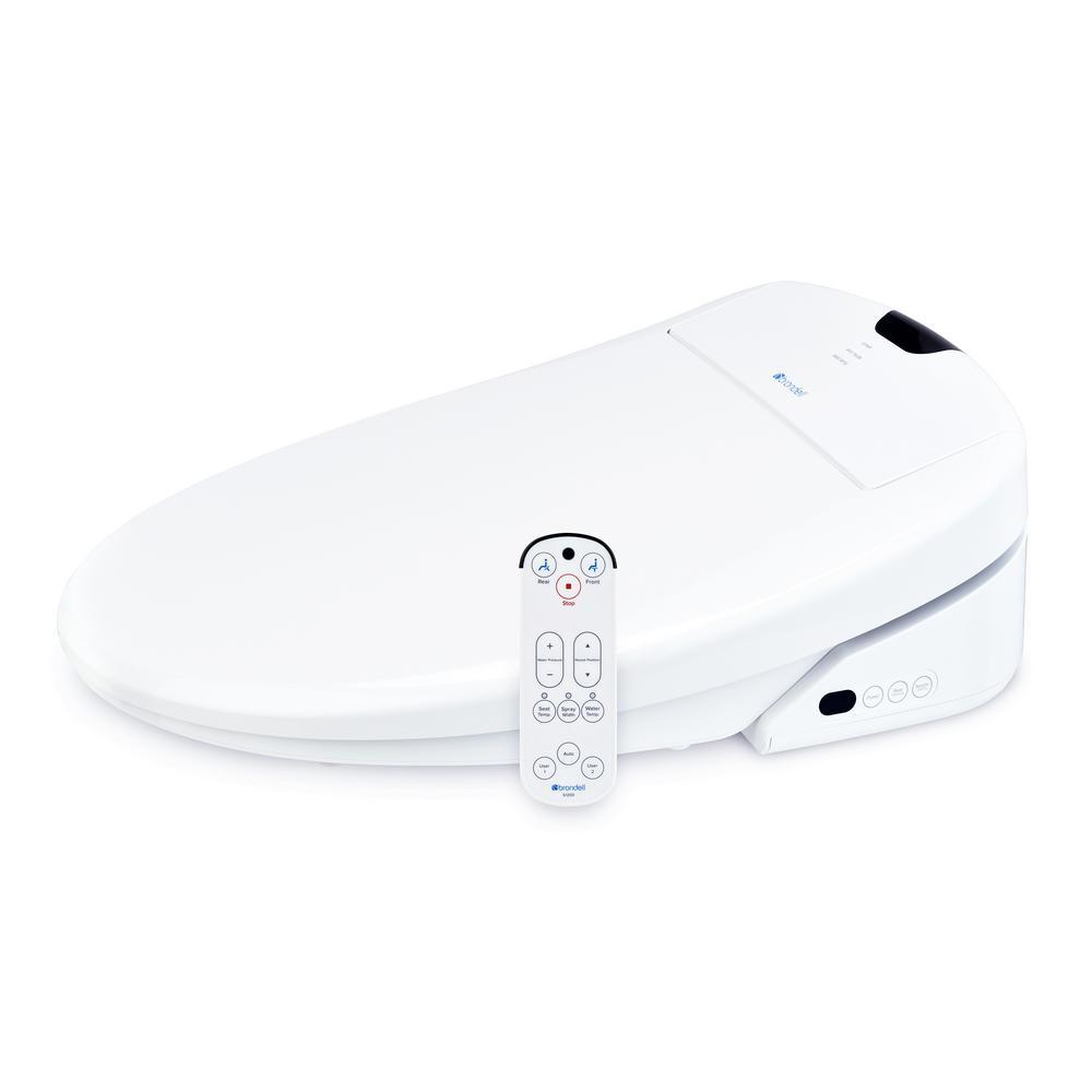 Swash 1200 Luxury Electric Bidet Seat for Round Toilet in White