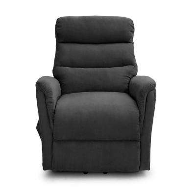 Calla Casa Ultra Comfort Lift Chair with Heat, Massage and Remote in Smoke Gray Microfiber