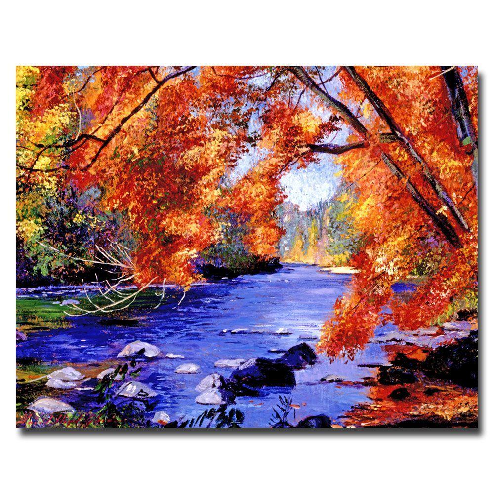 Trademark Fine Art 26 in. x 32 in. Vermont River Canvas Art