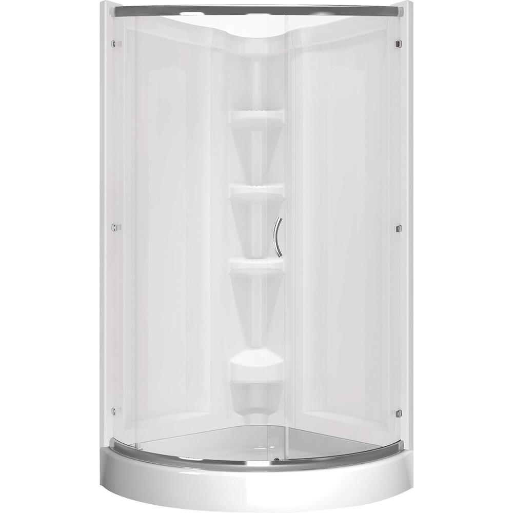 Delta Cerise 39 In X 72 In Corner Shower Kit In White Bvs422cs