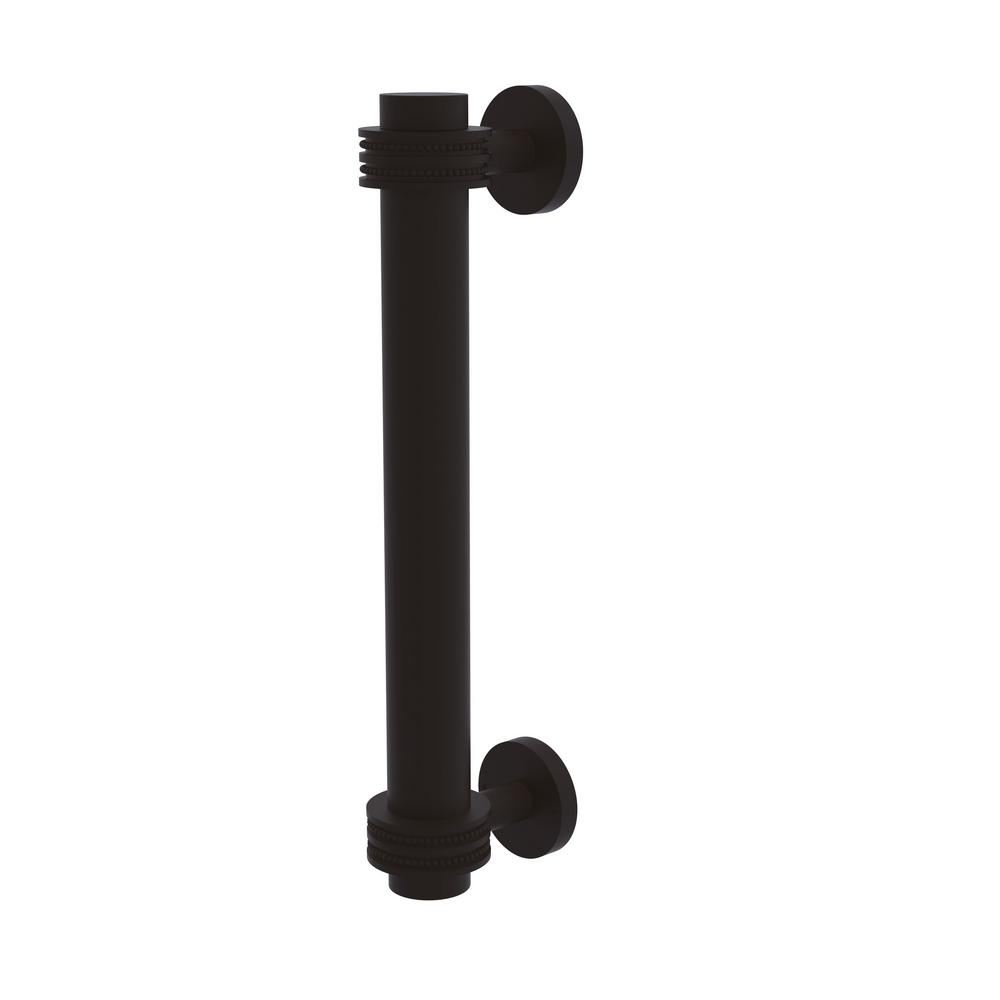 8 in. Door Pull with Dotted Accents in Oil Rubbed Bronze