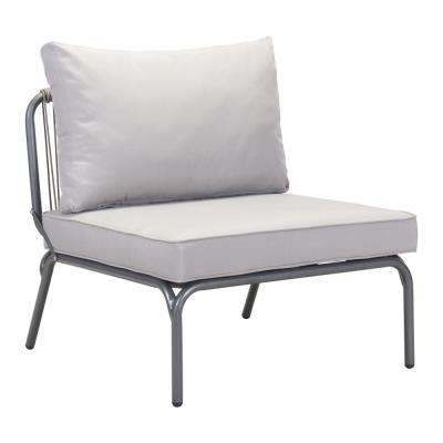 Pier Wicker Outdoor Patio Lounge Chair With Gray ...