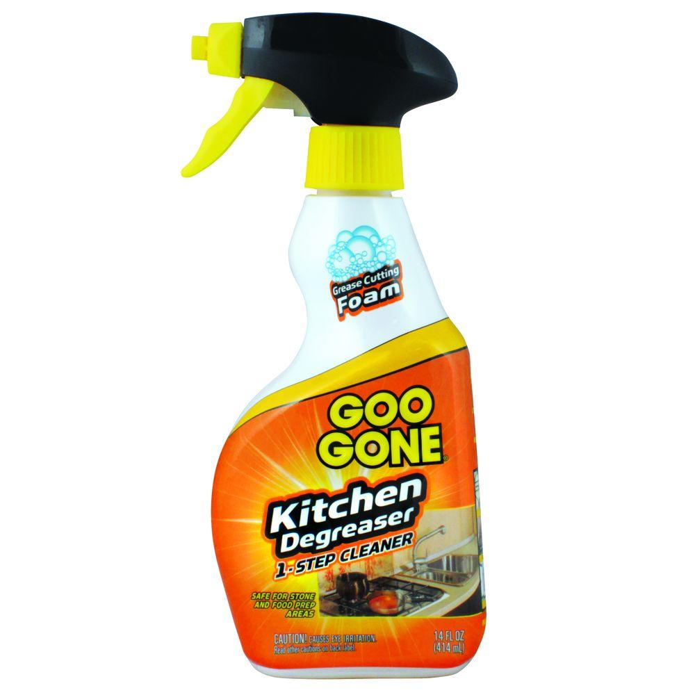 Goo Gone 14 oz. Trigger Foaming Kitchen Grease Cleaner and Remover-DISCONTINUED