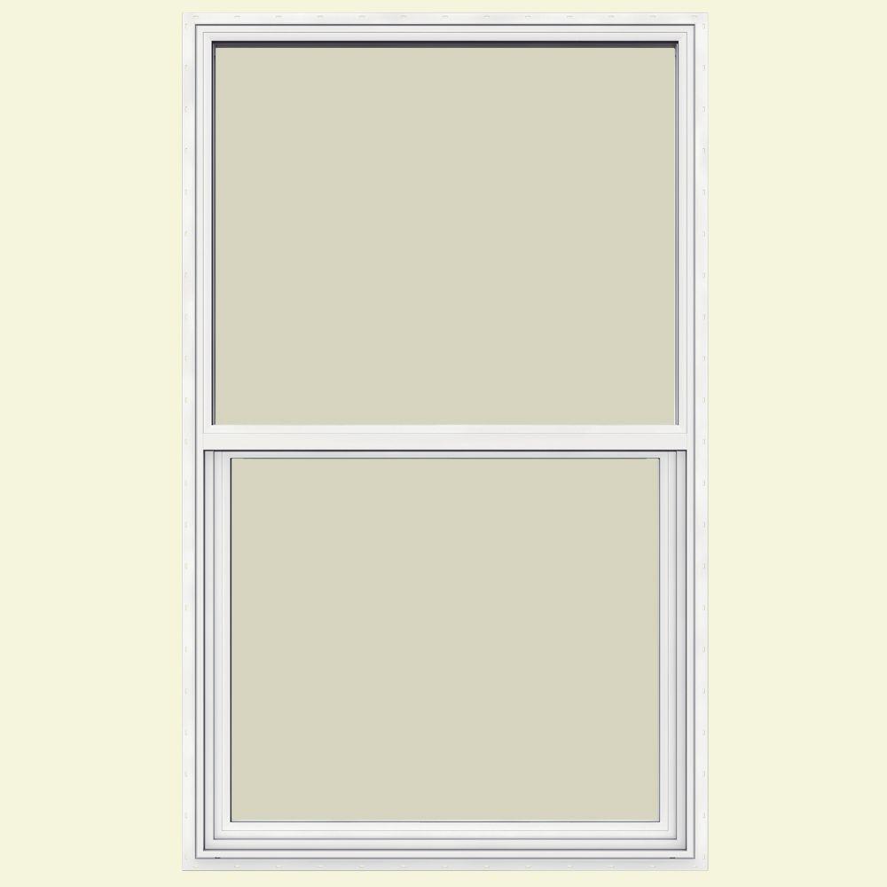 JELD-WEN 35.5 in. x 59.5 in. V-1500 Series Single Hung Vinyl Window - White