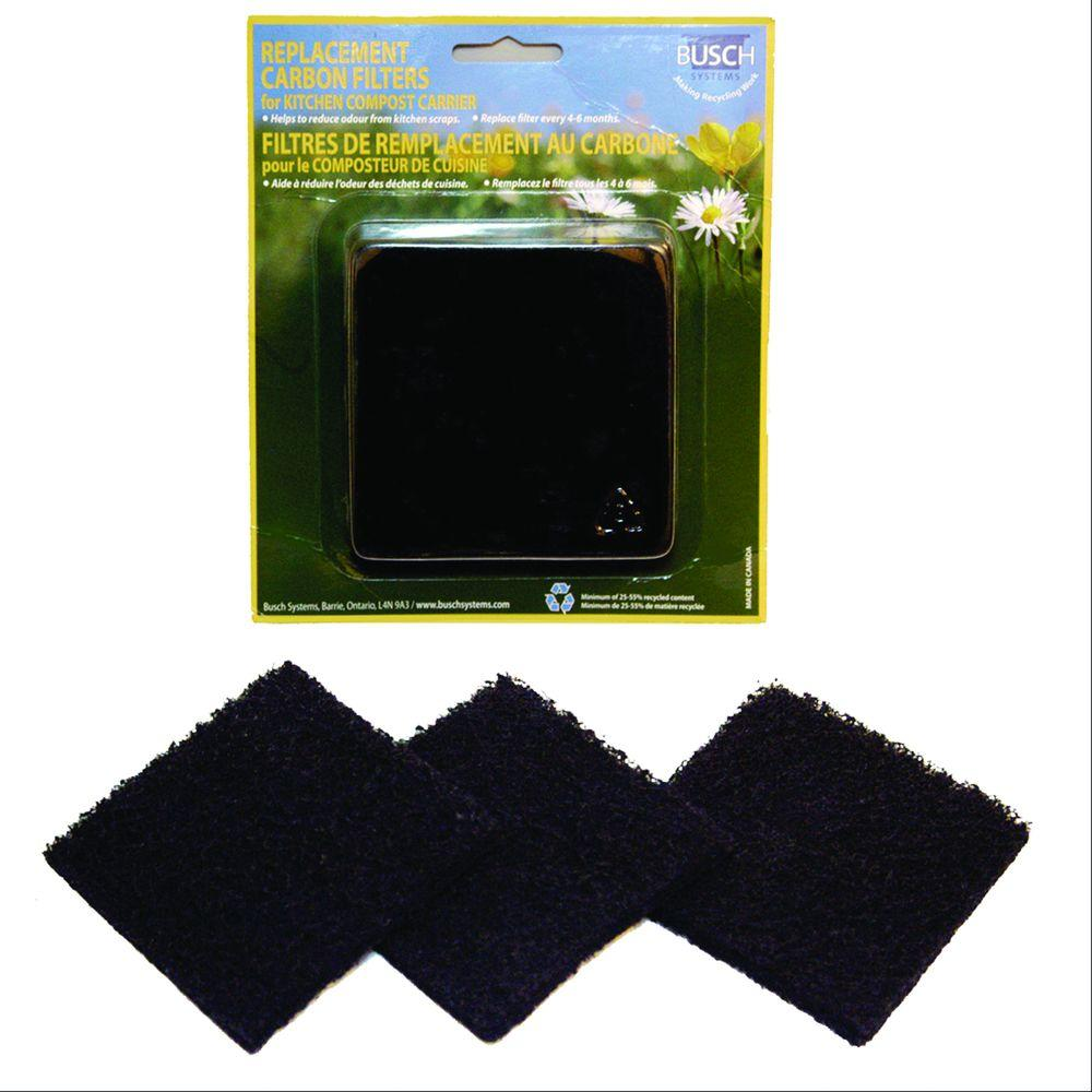 Exaco Replacement Carbon Filters for the ECO Kitchen Compost Collector (3-Pack)