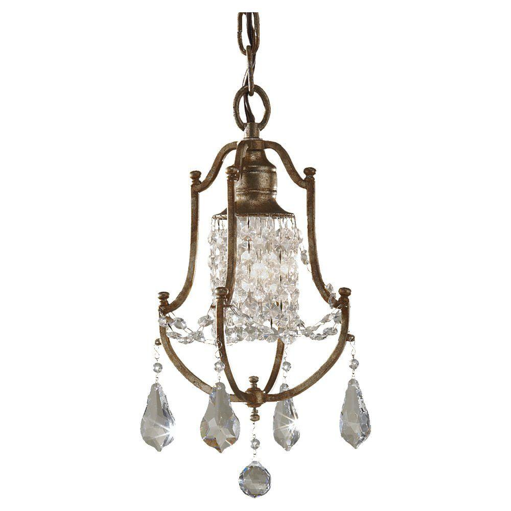 Valentina 1-Light Oxidized Bronze Mini-Chandelier