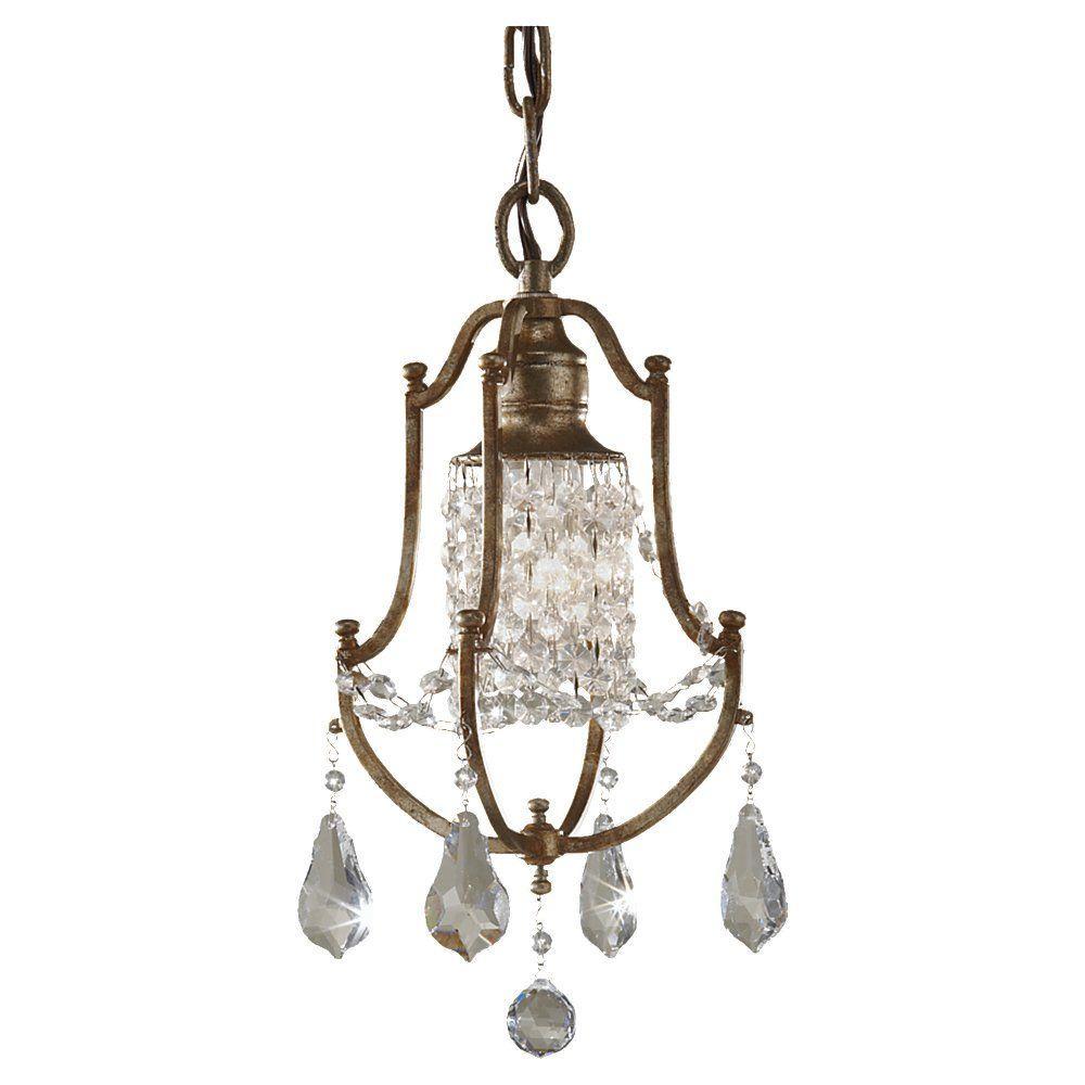 Chandeliers valentina 1 light oxidized bronze mini chandelier arubaitofo Image collections