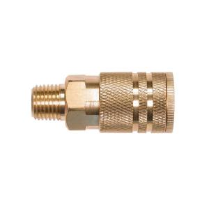 Primefit 1/4 inch Industrial 6-Ball Brass Coupler with 1/4 inch Male NPT by Primefit
