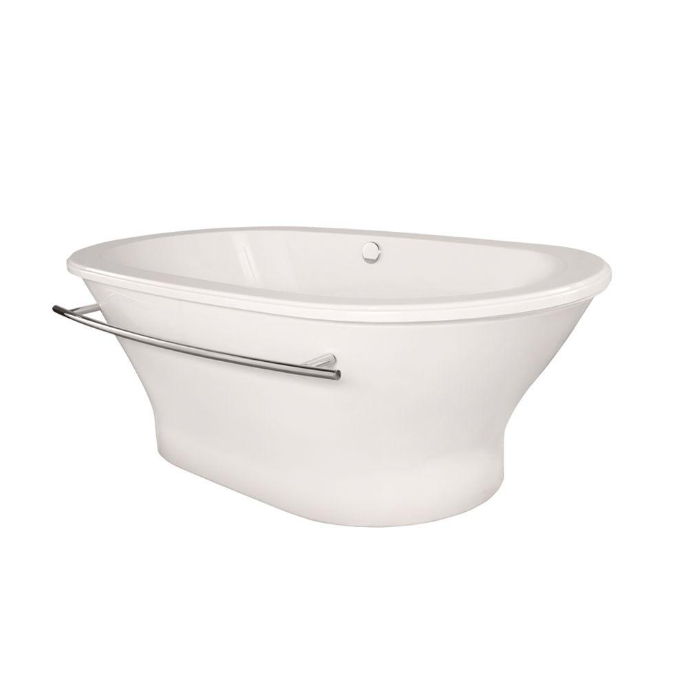 Hydro Systems Arlington 70 in. Acrylic Flatbottom Air Bath and Whirlpool Bathtub in White