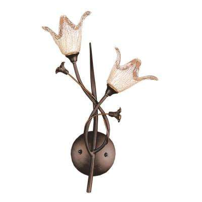 Fioritura 2-Light Aged Bronze Wall Mount Sconce