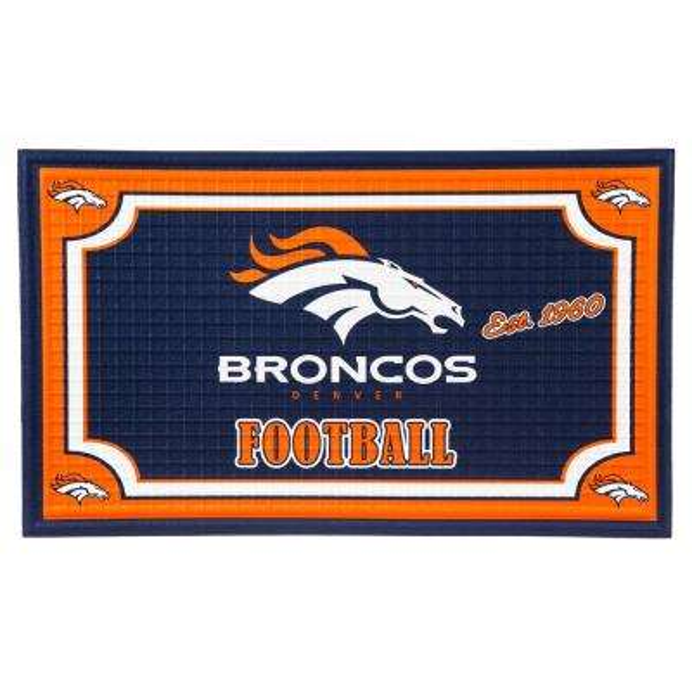 Denver Broncos 18 in. x 30 in. Embossed Welcome Mat