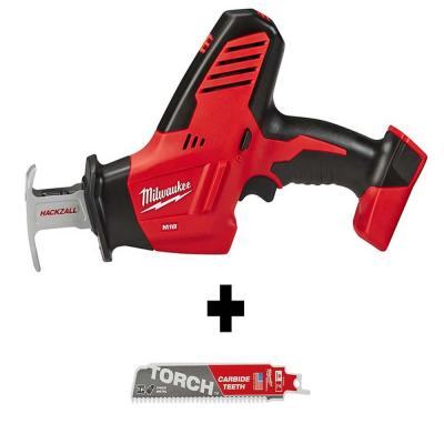 M18 18-Volt Lithium-Ion Cordless Hackzall Reciprocating Saw with Carbide Teeth Metal Cutting SAWZALL Saw Blade