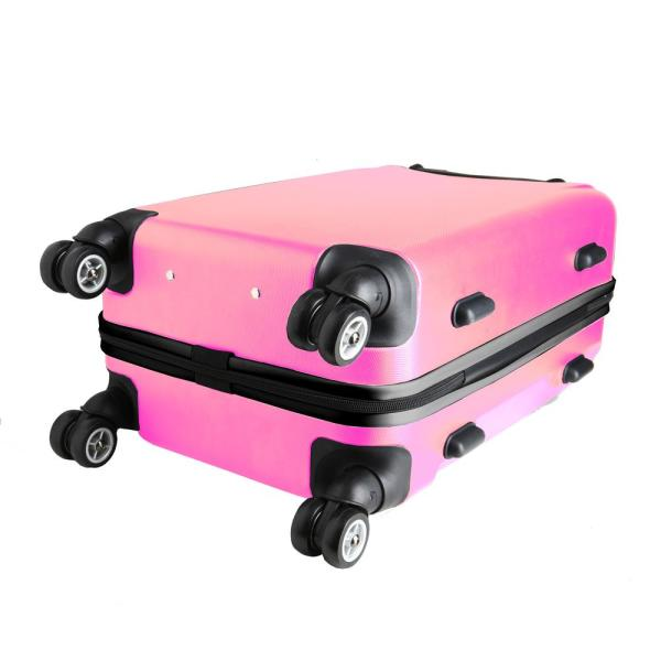 Denco Nfl Minnesota Vikings 21 In Pink Carry On Hardcase Spinner Suitcase Nfmvl204 Pink The Home Depot